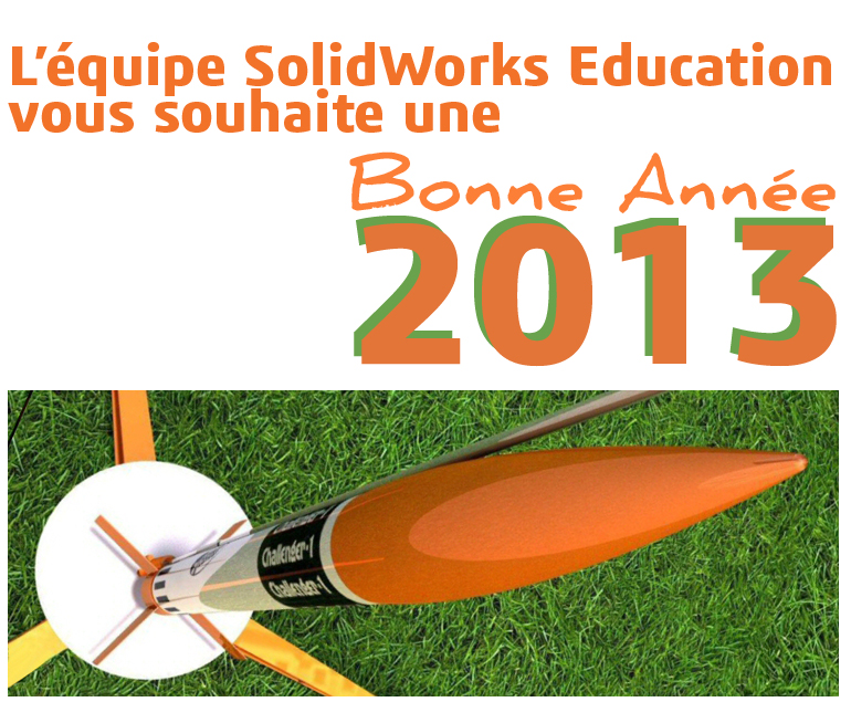 Bonne année 2013 avec SolidWorks !