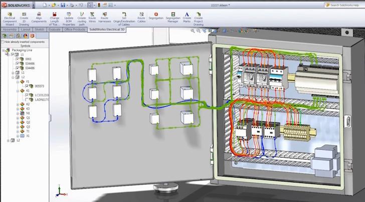 Intégration en temps réel de la conception de systèmes électriques 2D et 3D