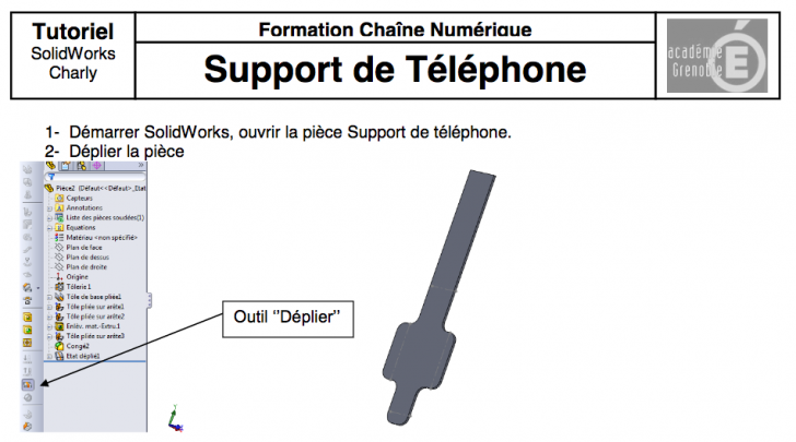 Usinage support de téléphone – Tutoriel SolidWorks