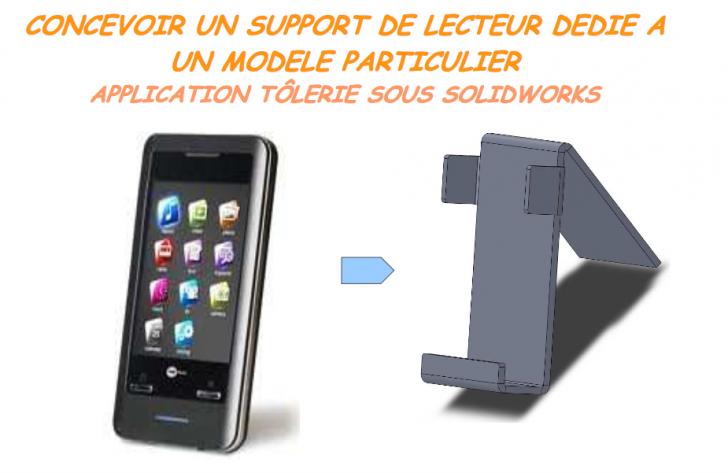 Création de pièce de tôlerie: Support de téléphone pour bureau (usinable)