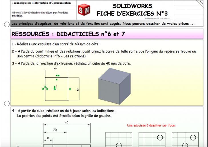 Ressource : didacticiels n°6 et 7