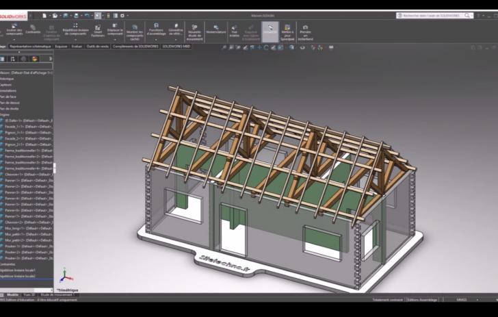 Structure de support d'un plancher – Simulation des déplacements. Vidéo