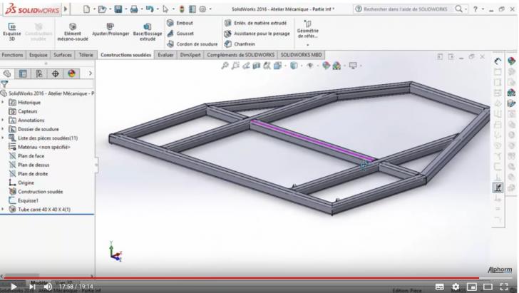 Modélisation 3D du châssis : partie basse