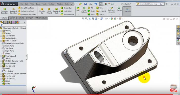 4 SolidWorks |SkateBoard|: Wheels Plate