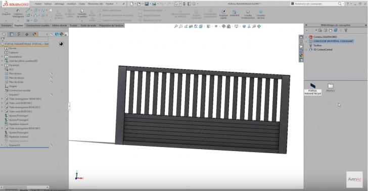 Formation SolidWorks – Conception d'un portail coulissant