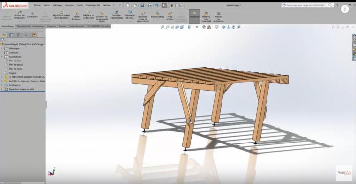 Conception d'un abri de voiture avec SolidWorks