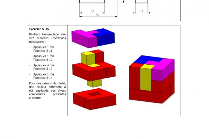 Assemblage à partir de pièces tetris