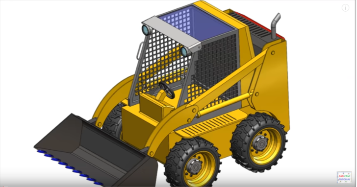 Solidworks tutorial | sketch Bobcat Loader in SolidWorks