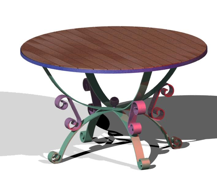 Table en fer forgé