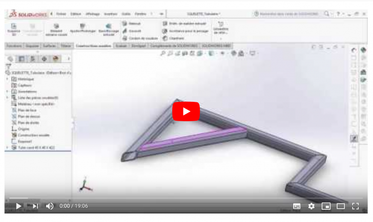 Atelier mécanique | Modélisation 3D du squelette