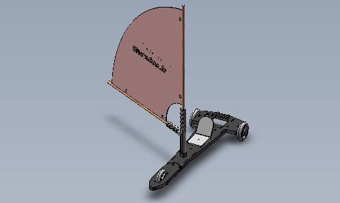 Maquette de char à voile, classe de 6ème