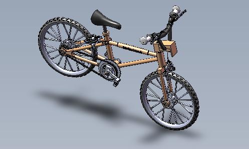 Maquette métallique de vélo, niveau 6ème