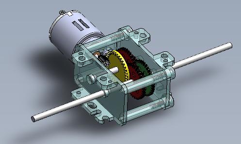Moto-réducteur bloc moulé, niveau 6ème