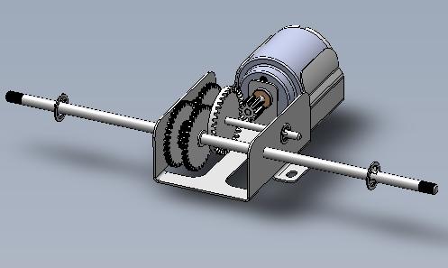 Moto-réducteur bloc tôle pliée, collège 6ème
