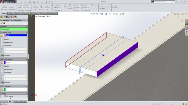 Control Normal of Reference Planes