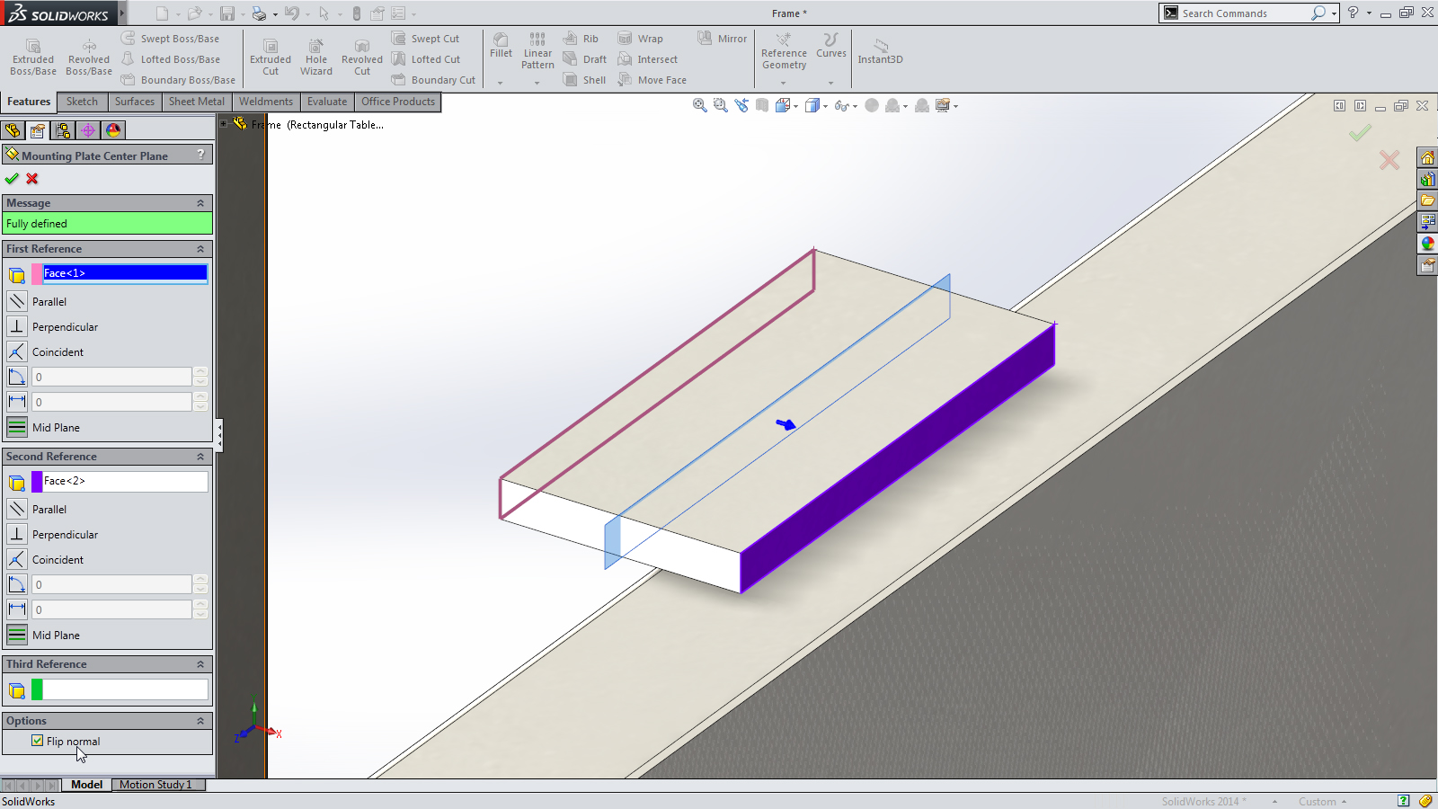 SolidWorks 2014 Sneak Peek: Reference Plane Normal Condition