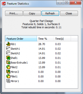 Feature Stats Half-Rib