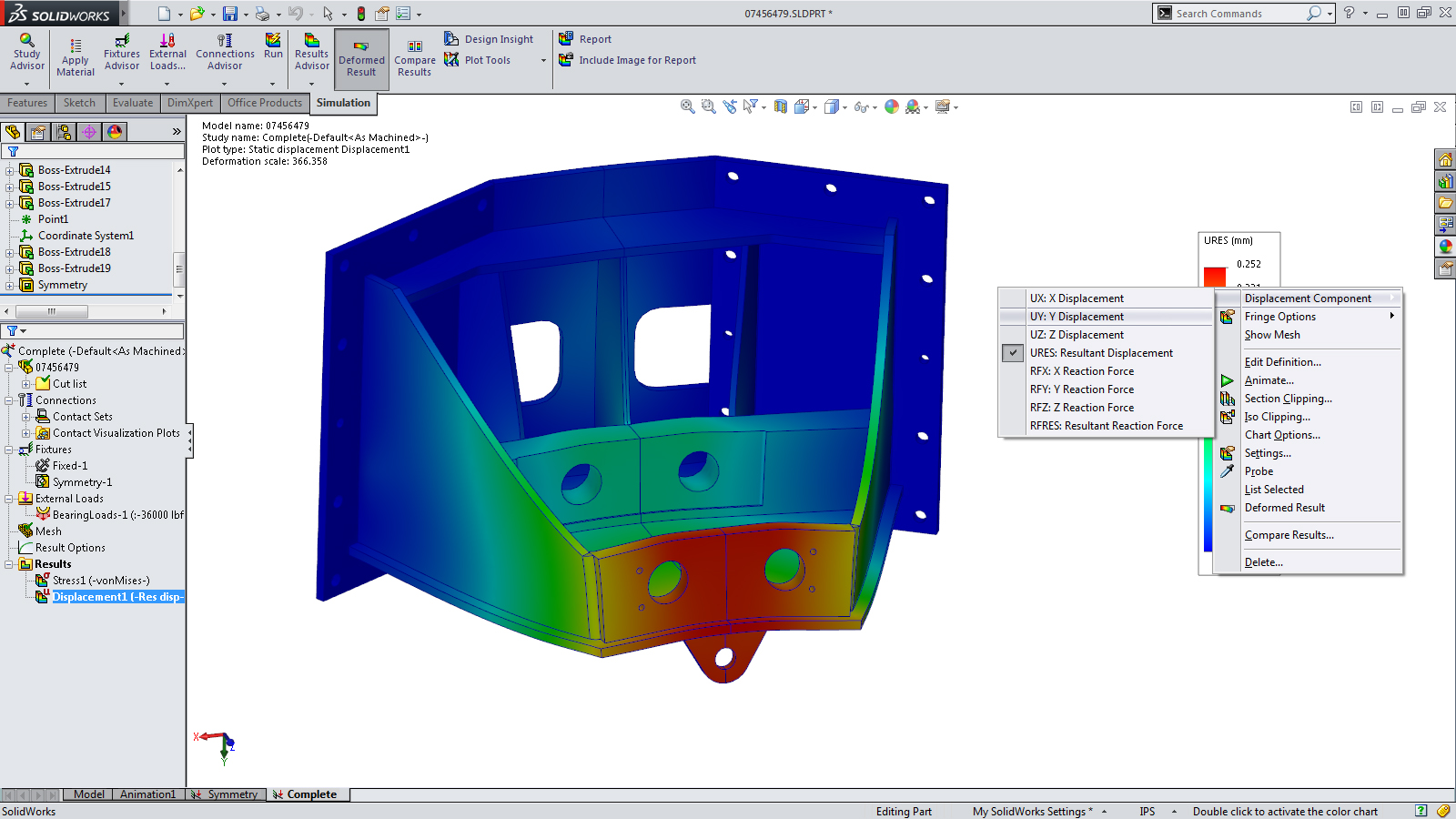 SolidWorks 2014 Sneak Peek: Results Interaction in Simulation