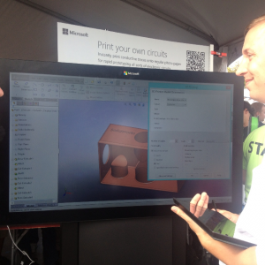 SolidWorks-2014-demo-in-the-Microsoft-tent-at-Maker-Faire