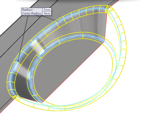 New in SolidWorks 2014: Conic Fillet Controls