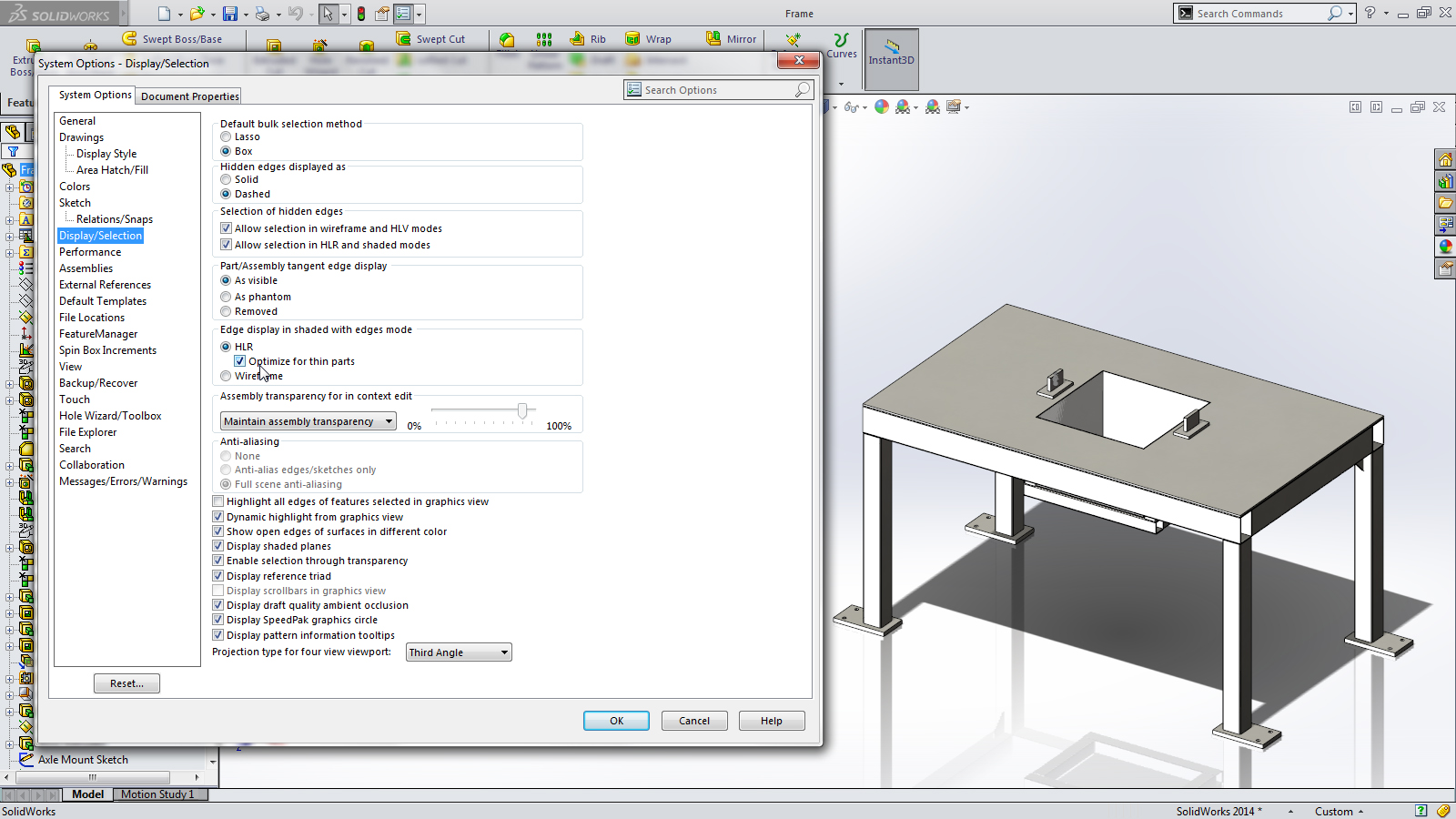 SolidWorks 2014 Sneak Peek: No Edge Bleed-Through for Thin Parts