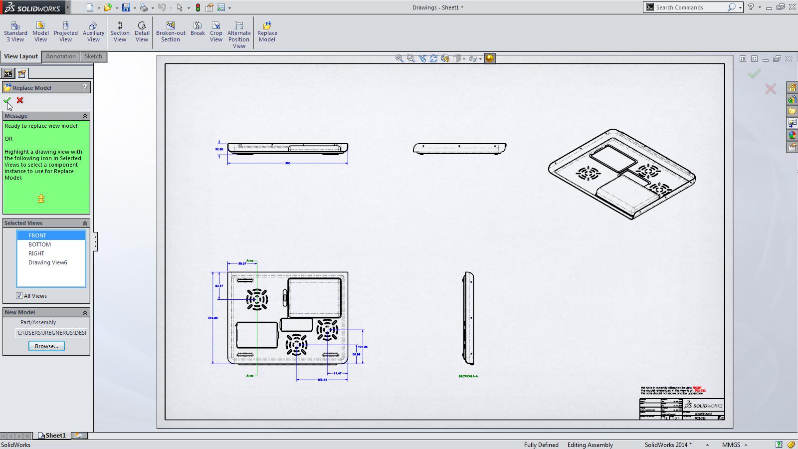SolidWorks 2014 Sneak Peek: Replace Model View