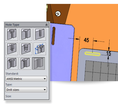 New in SolidWorks 2014: Slot Hole Wizard