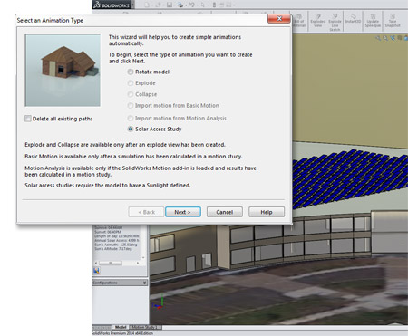New in SolidWorks 2014: Solar Access Study