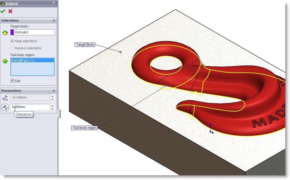 SolidWorks Indent
