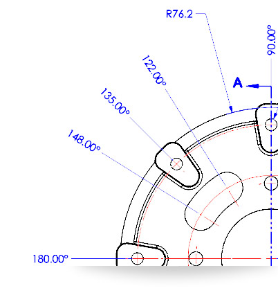 New in SolidWorks 2014: Angular Running Dimensions