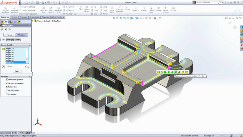 Dramatically reduce design errors by using SolidWorks Intelligent Feature Technology