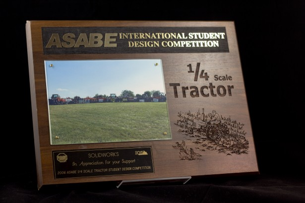 One of the many plaques from the many events SolidWorks Education has been involved in
