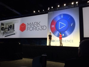 MarkForged on stage at SolidWorks World 2014 Day 2 General Session