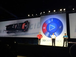 Bertrand Sicot with BoDyn Bobsled at SolidWorks World 2014 Day 2 General Session