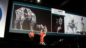 eatART Mondo Spider on stage at SolidWorks World 2014 Day 2 General Session