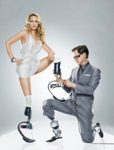 Hugh Herr on the cover of Wired magazine with American athlete Amy Mullins