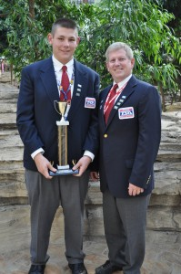 Brent Last, 2011 Technology Student Association (TSA) National CAD Championship winner, shown at with Technology and Computer Science Department Coordinator Jay E. Moore