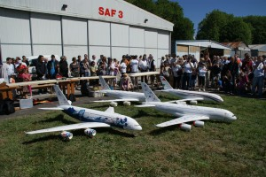 Replicas of Airbus A380 built as part of the BAC Pro Machining Technician program at Lycée René Perrin