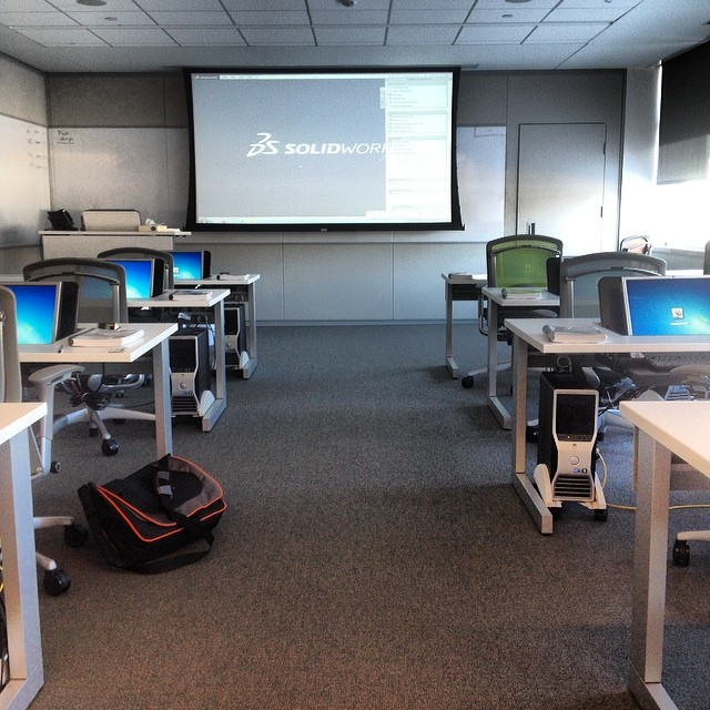 Taking the SolidWorks Essentials training class