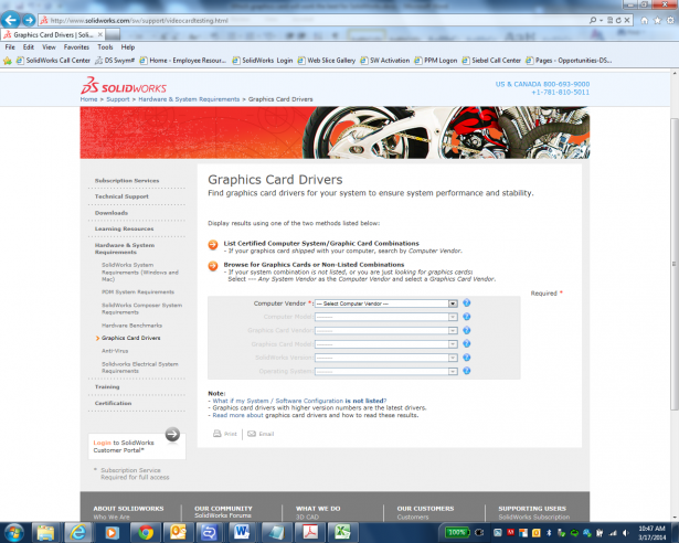 SOLIDWORKS Graphics Cards