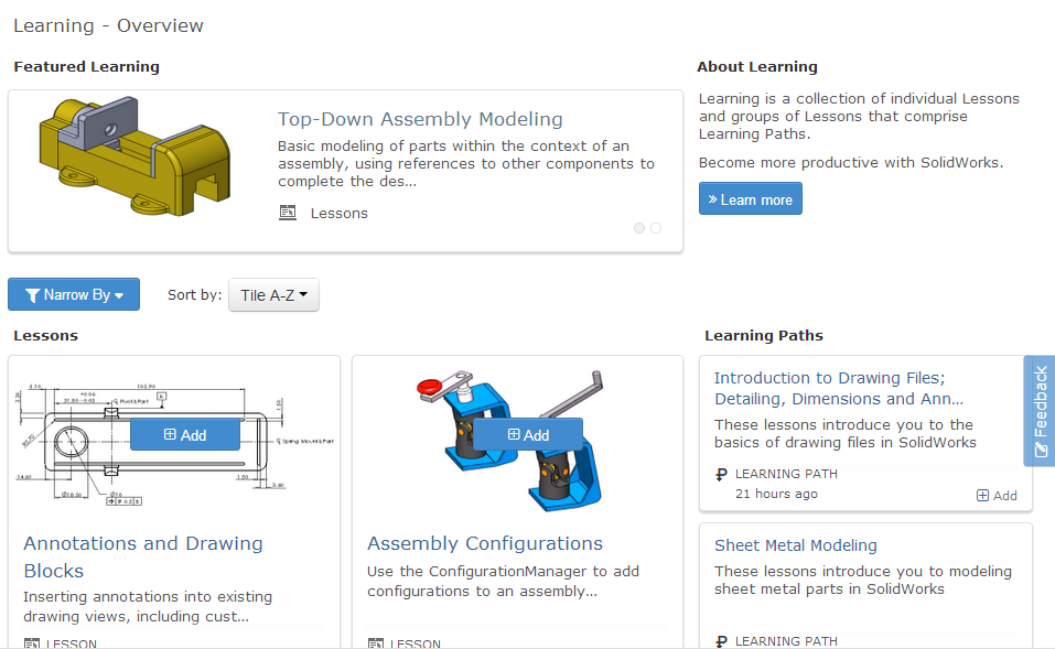 Announcing MySolidWorks Learning