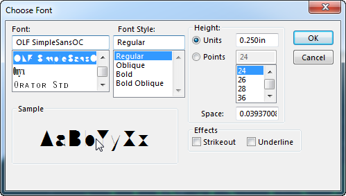 Stick Font (What's New in SOLIDWORKS 2014)
