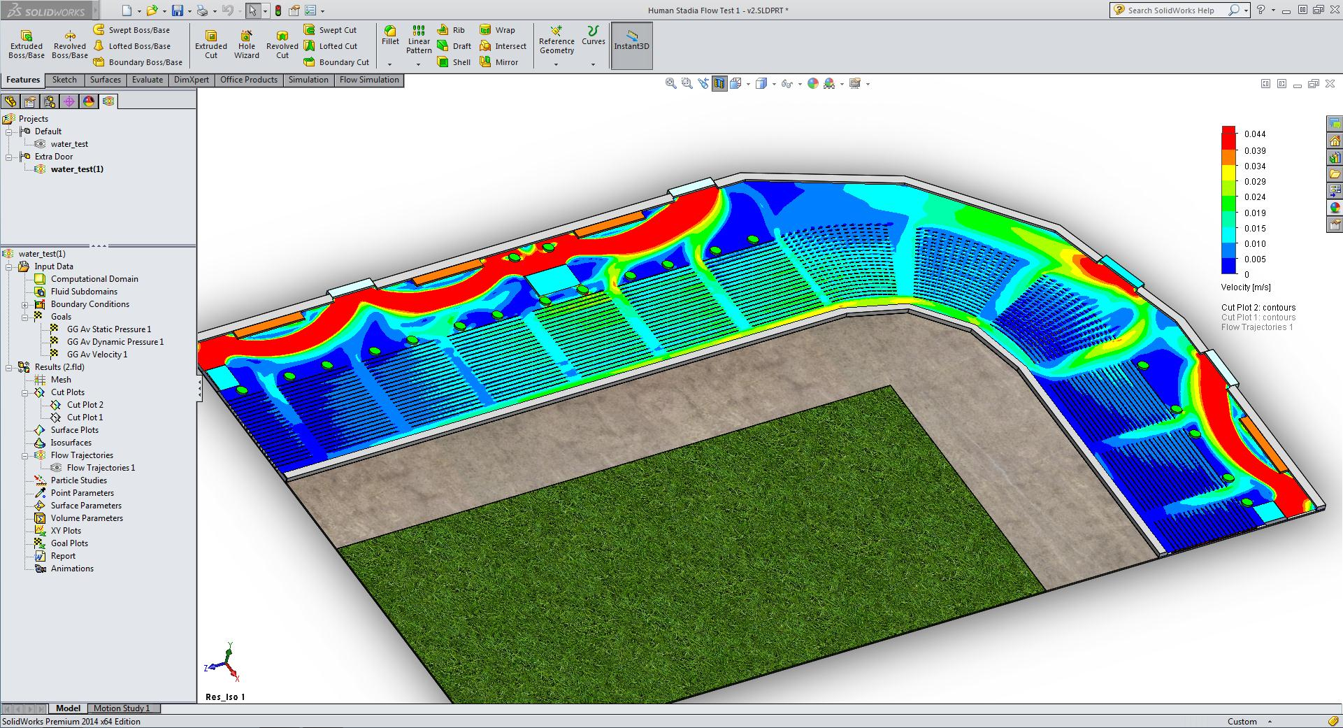World Cup: Simulating Stadium Foot Traffic in SOLIDWORKS