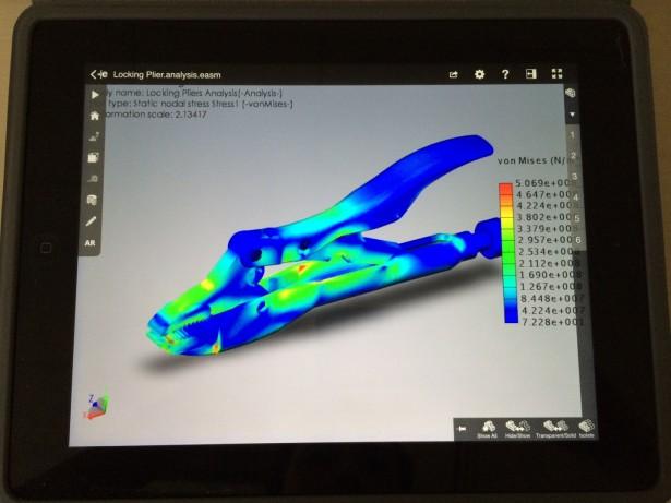 FEA results in eDrawings on iPad