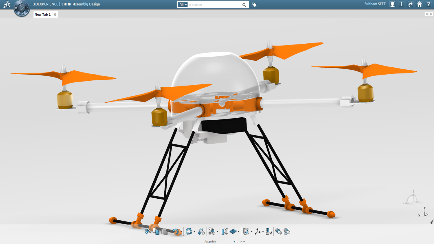 Cad Drawing Quadcopter Project Brings Solidworks Mechanical Conceptual