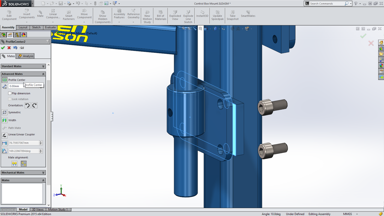 Sneak Peek: 15 Features coming in SOLIDWORKS 2015 – Profile Center Mate