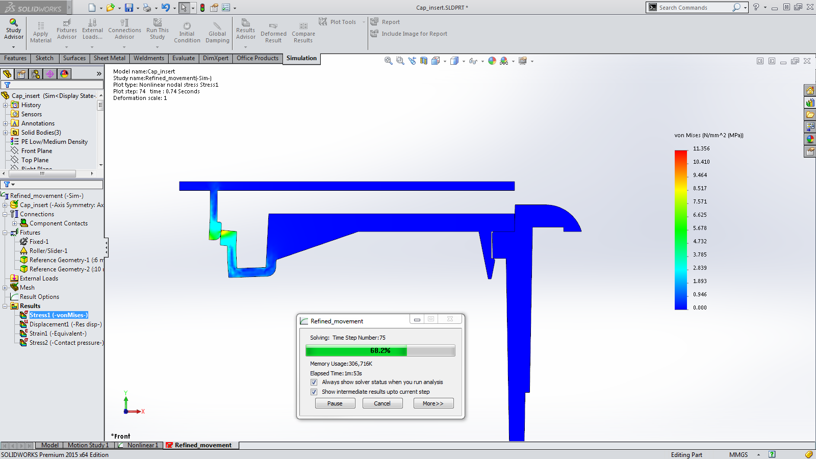 Sneak Peek: 15 Features coming in SOLIDWORKS 2015 – Incremental Simulation Results