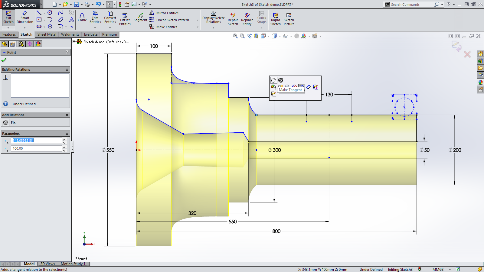 Sneak Peek: 15 Features coming in SOLIDWORKS 2015 – Sketch Relations on Endpoints