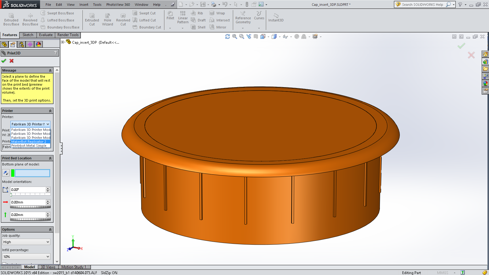 Sneak Peek: 15 Features coming SOLIDWORKS 2015 – 3D Printing Support