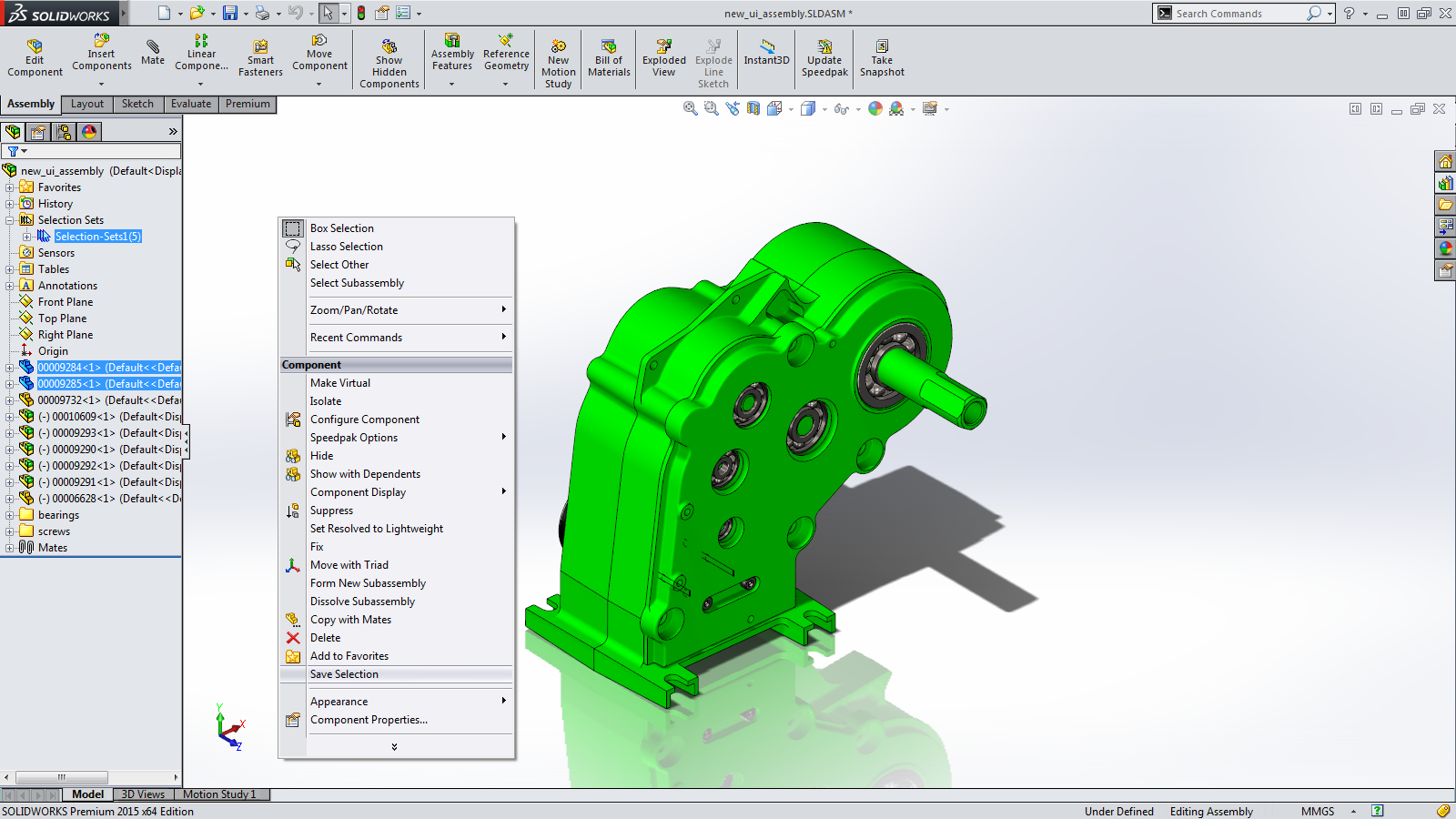 Sneak Peek: 15 Features coming in SOLIDWORKS 2015 – Selection Sets